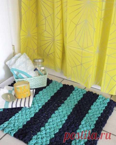 Коврик для ванной комнаты, сделанный собственными руками… — Журнал Вдохновение Рукодельницы