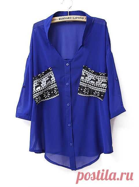 Блузка... с оленями! / Блузки / Модный сайт о стильной переделке одежды и интерьера
