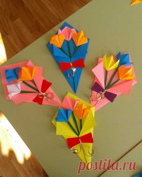 Bouquet for mother - Hand-made articles with children | Detkipodelki