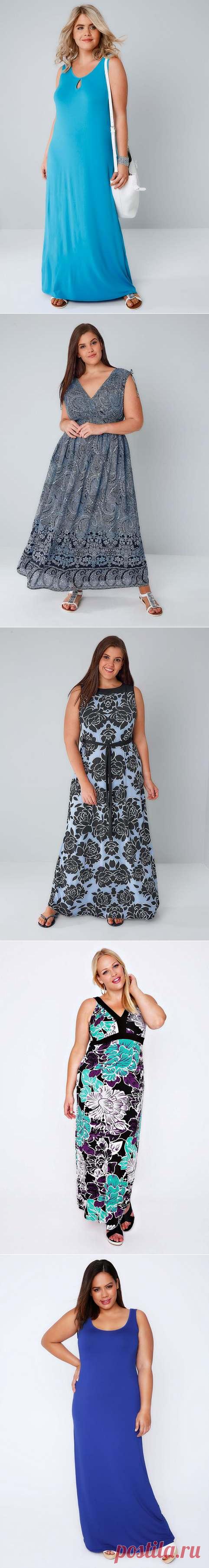 6b5775acc6d7738 Длинные платья и сарафаны для полных девушек и женщин английского бренда  Yours, лето 2017 (