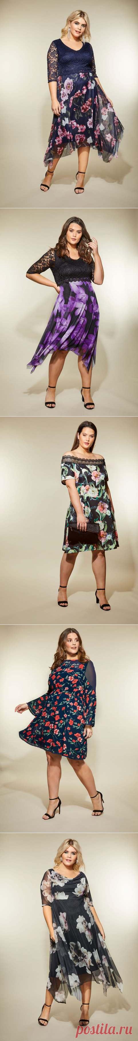 1b94a533a139c25 Платья для полных английского бренда Yours весна-лето 2019   Платья ...