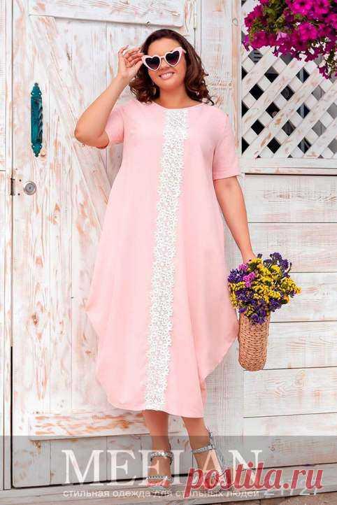 Летние платья для полных модниц украинского бренда Meelan 2019