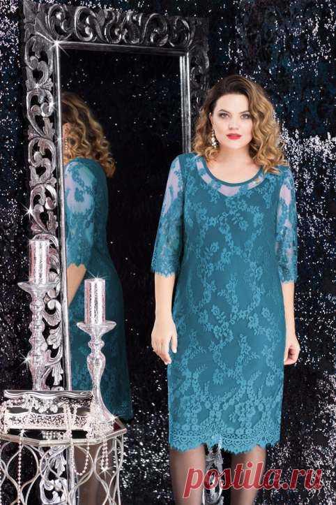 Новогодняя коллекция платьев для полных женщин белорусского бренда LeNata 2019