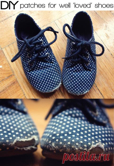 Ремонтируем детские ботиночки