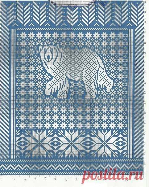 Схемы белых медведей для жаккарда. Если Вы увлекаетесь жаккардовым вязанием, то эти схемки помогут определиться с выбором узора для джемпера мужественному мужчине. #knitting #вязание_спицами #вяжем_мужчинам #жаккард #интарсия #схемы_животных