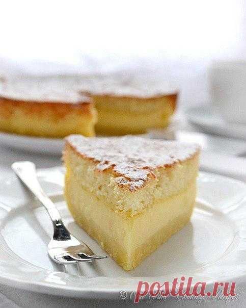 Волшебный торт, который тает во рту - 1 тесто, 3 слоя, ванильный вкус!