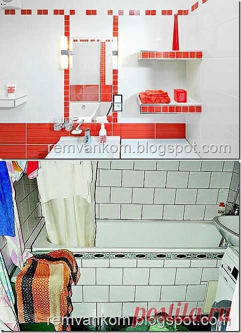Ремонт ванных комнат: Ремонт ванной комнаты на 3 м2