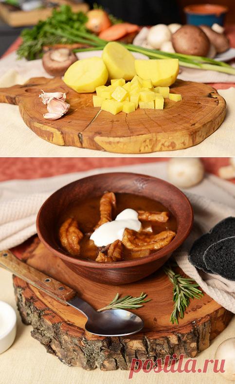 Ароматный грибной суп с чесночными галушками - рецепт приготовления с фото от Maggi.ru