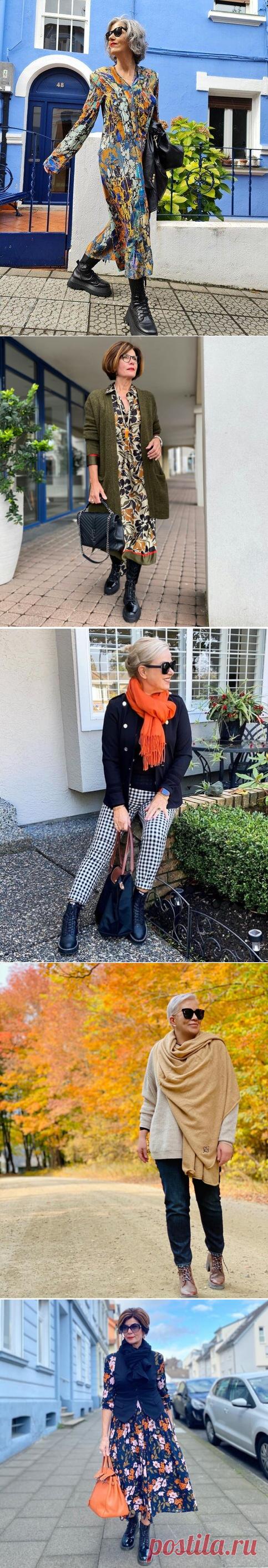Грубые ботинки - модный тренд: с чем носить такие ботинки, чтобы выглядеть привлекательно | До и после 50-ти | Яндекс Дзен