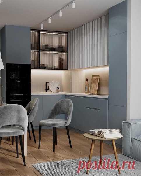 Шикарная кухня, отличное пространство! Все сделано на высоком стиле. Сочетание цветов)...