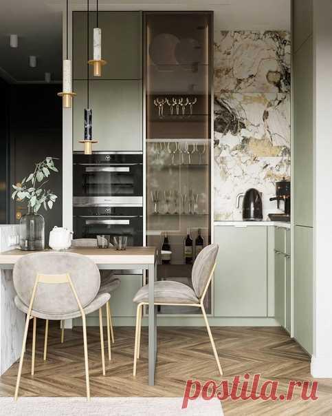Автор проекта: дизайнер Алексей Волков Невероятная кухня-гостиная