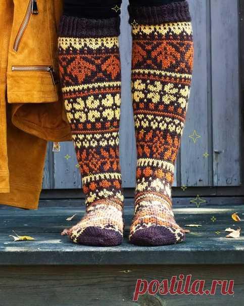 Осенние лесные носки от Niina Laitisen