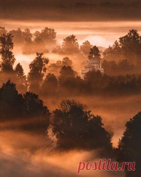 Рассвет в Истре, Московская область. Автор фото – Андрей Белавин: nat-geo.ru/photo/user/290852/