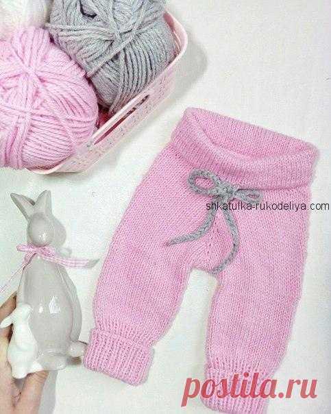 штанишки для малыша штанишки для малыша спицами теплые простые штан