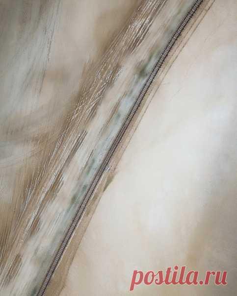 «Застёжка-молния» Железная дорога от озера Баскунчак в Астраханской области. Фотограф - Андрей Белавин: