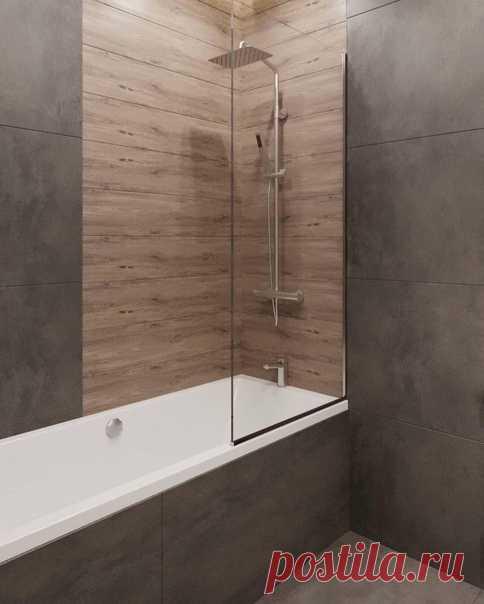 Ванная комната в серых тонах. Пространство на стиле.