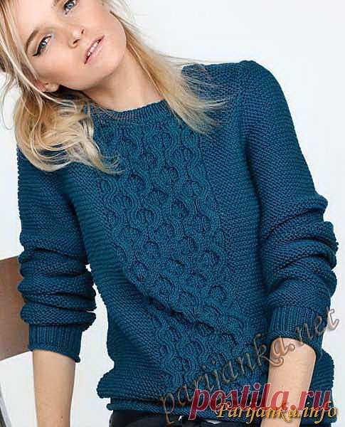 Пуловер (ж) 23*69 Phildar №2552