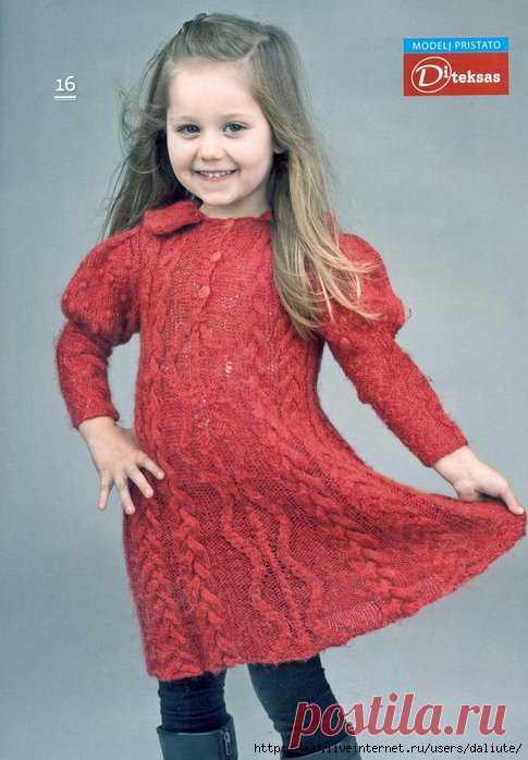 Платье Спицы 5 6 Лет