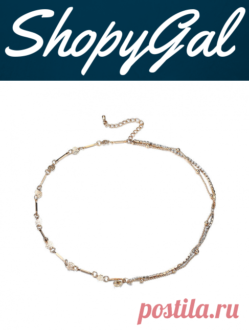 Multilayer Gold Plated Flower Anklet Metal Foot Chain Women Jewelry | ShopyGal.com