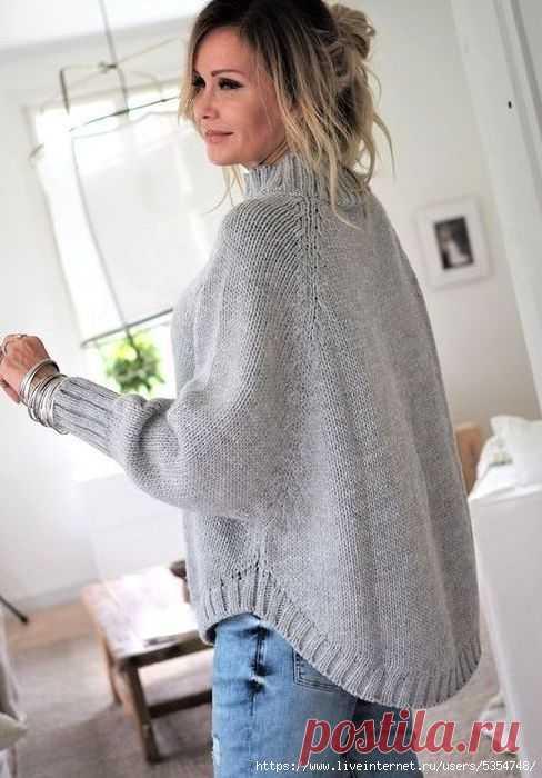 Пончо - пуловер..