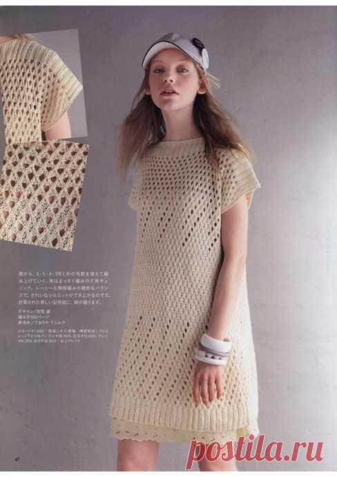 Вяжем платье-тунику интересным узором