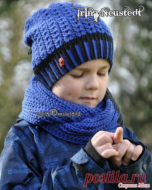 винтаж шапочки крючком для девочки и мальчика авторская работа