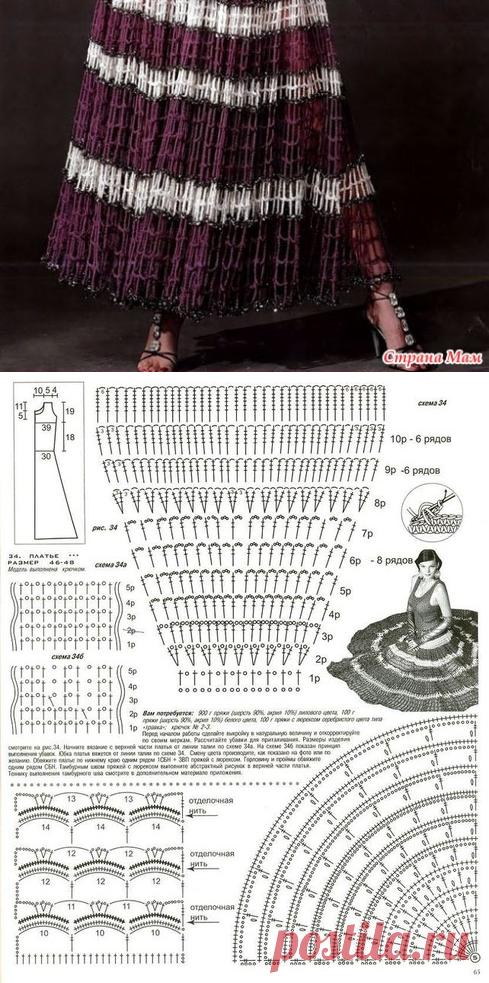 Шикарная юбка из обычной филейной сетки - Вязание - Страна Мам