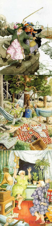 Когда я буду бабушкой.....  Финская художница Inge Look.