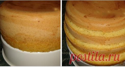 Самый простой рецепт бисквита. Такого высоченного у меня ещё не получалось! Получается высокий, пышный корж, из которого можно соорудить большущий торт на всю семью!