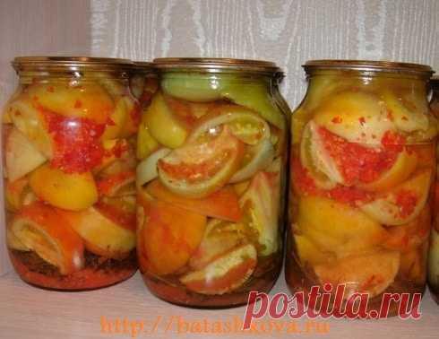 Самые вкусные зеленые помидоры на зиму. Обязательно попробуйте...