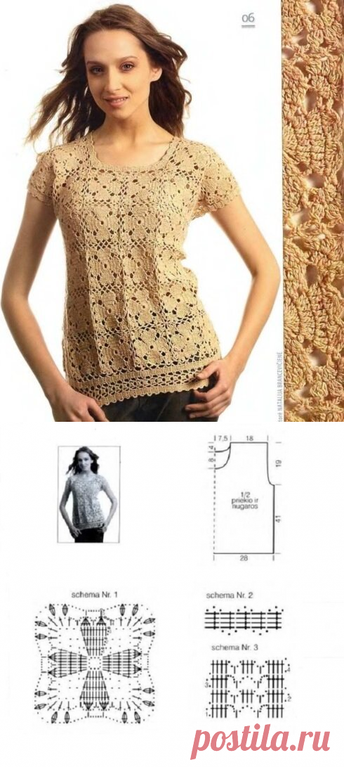 Семь нарядных блузок из мотивов со схемами | CatDogSweatr | Яндекс Дзен