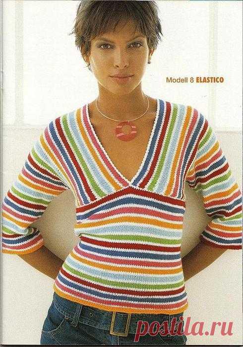"Пуловер ""полоска""."