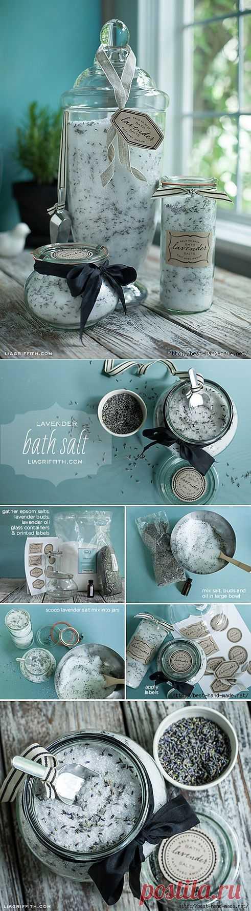 Лавандовая соль для ванны. Рецепт и этикетки.