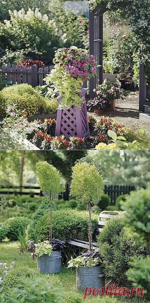 @ Украшаем дачный участок своими руками с помощью растений в контейнерах   МОЙ МИЛЫЙ ДОМ – идеи рукоделия, вязание, декорирование интерьеров