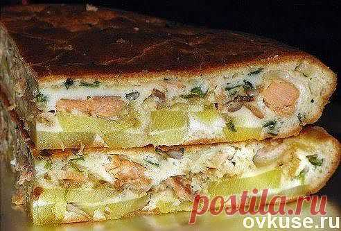 Рыбный заливной пирог с картошкой - Простые рецепты Овкусе.ру