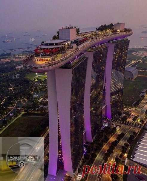 Дух захватывает только у меня одной ..даже от одного только вида???? ...Сингапур ... Побывать бы там...