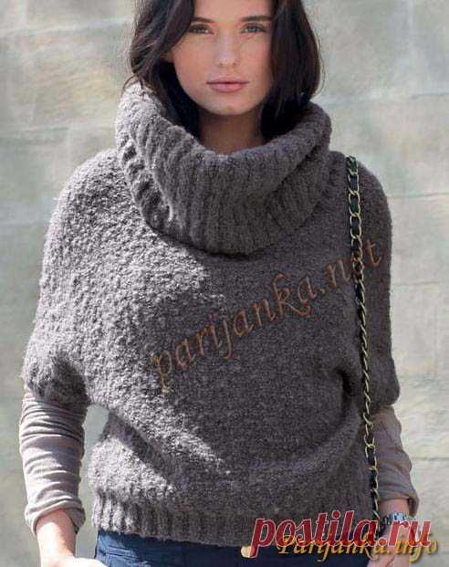 свитер безрукавка из пряжи букле спицами все размеры