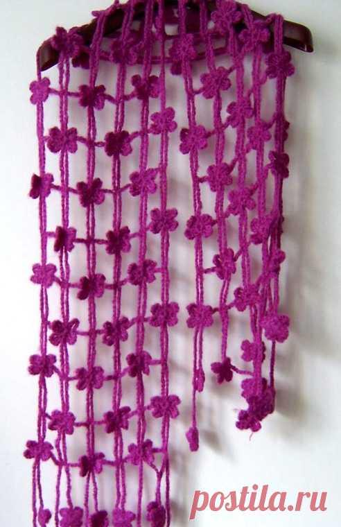 Такой шарфик можно связать за 1 день (Вязание крючком) – Журнал Вдохновение Рукодельницы