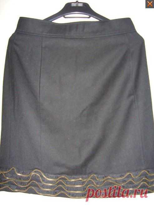 """юбка """"Moschino"""" с отделкой из застежки - молнии / Юбки и их переделки / ВТОРАЯ УЛИЦА"""