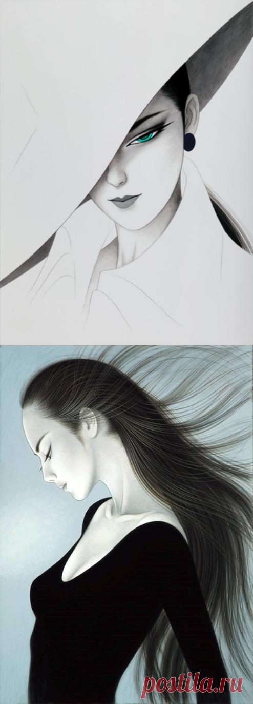 Прекрасные японки в работах Ichiro Tsuruta