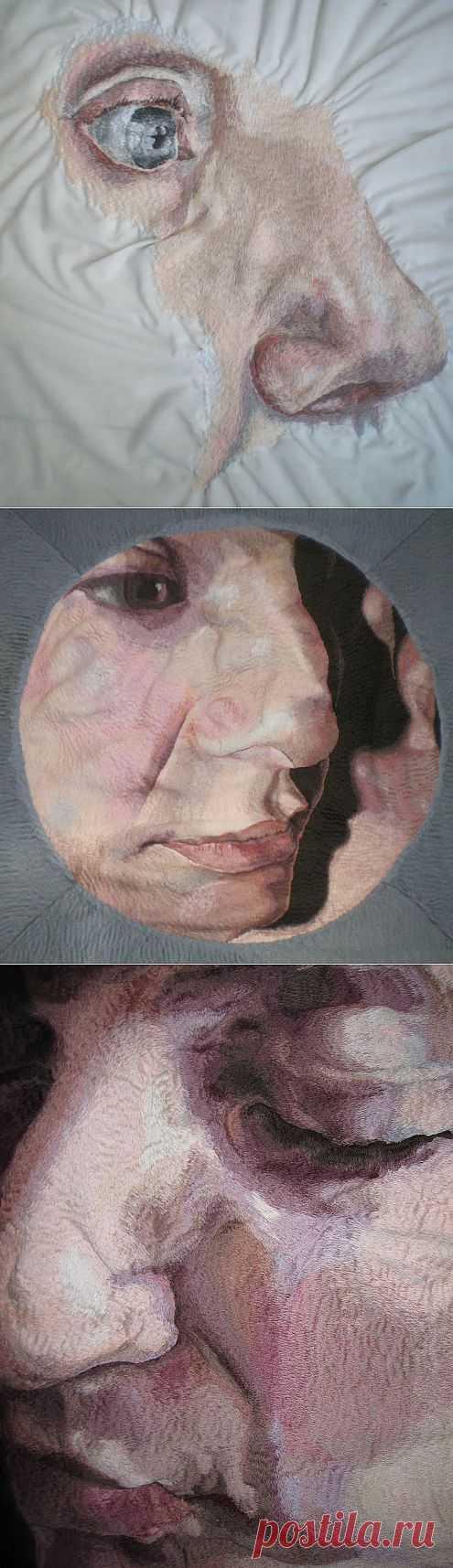 Вышитые портреты Harriet Maxwell / Вышивка / ВТОРАЯ УЛИЦА