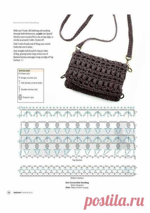 7eef11a2e47c сумка крючком - Самое интересное в блогах | вязаные сумки | Постила