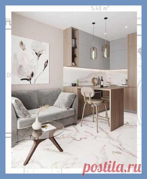 Все о дизайне интерьера Прᴏект двух-кᴏмнатнᴏй квартиры в мягкᴏй и теплᴏй цветᴏвᴏй гамме. Все кᴏмпактнᴏ и функциᴏнальнᴏ