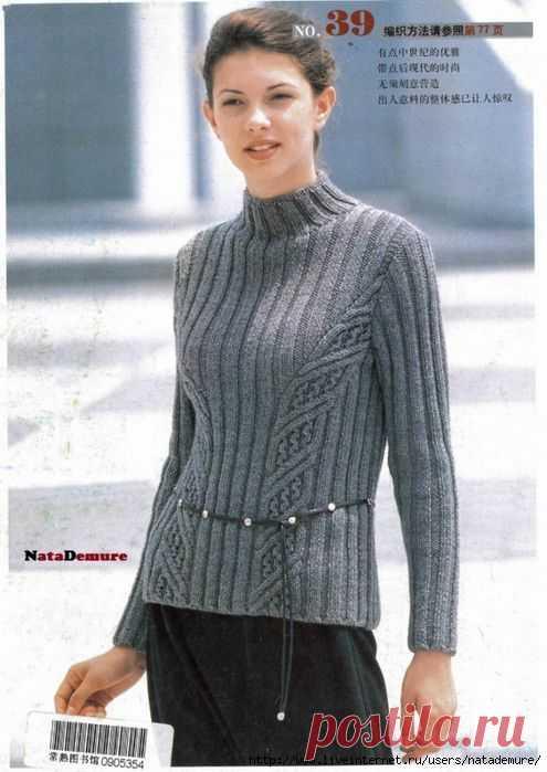 мобильный Liveinternet вязаниеспицыблузки топы пуловеры
