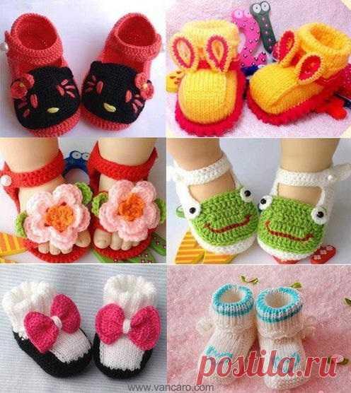 El calzado encantador para la chiquitina hand-made