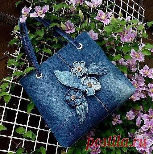 Джинсовые сумки. Несколько идей для вдохновения — Журнал Вдохновение Рукодельницы