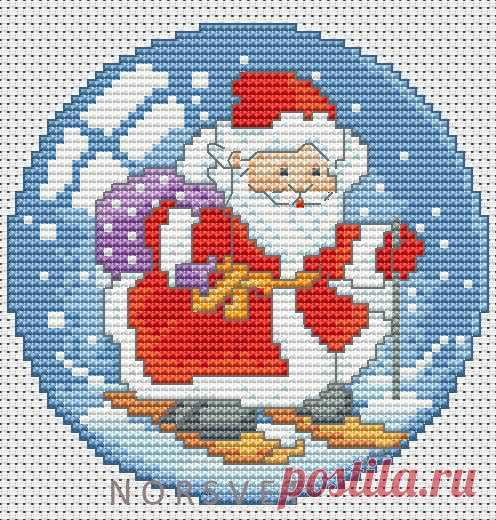 Gallery.ru / Шар.Дед Мороз на лыжах - Новогоднее - Norsvet