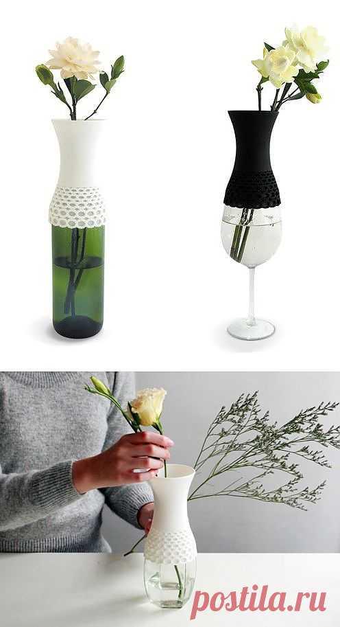 Кружевная ваза / Цветы / Модный сайт о стильной переделке одежды и интерьера
