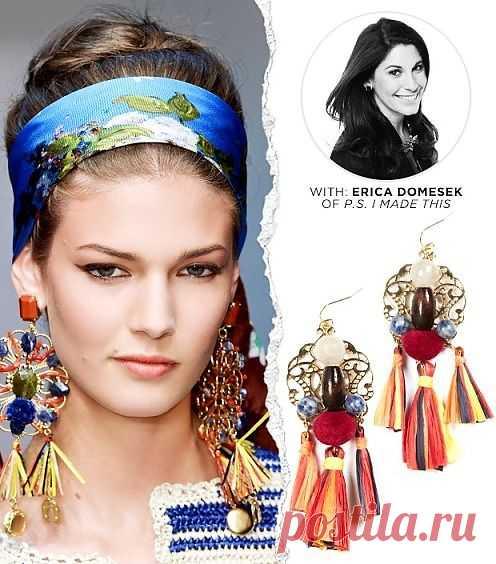 Идея по декору сережек / Украшения и бижутерия / Модный сайт о стильной переделке одежды и интерьера