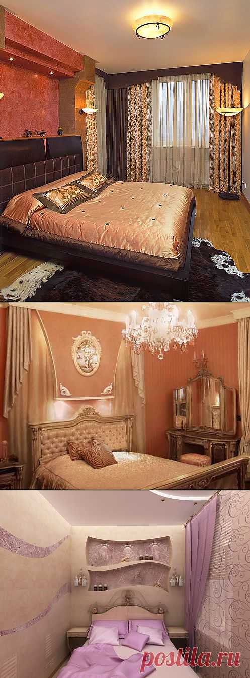 Дизайн интерьера спальни в малогабаритной квартире.